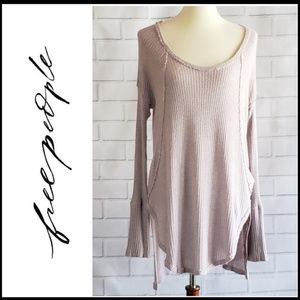 FREE PEOPLE Thermal Hi Low Tunic w/Side Slits